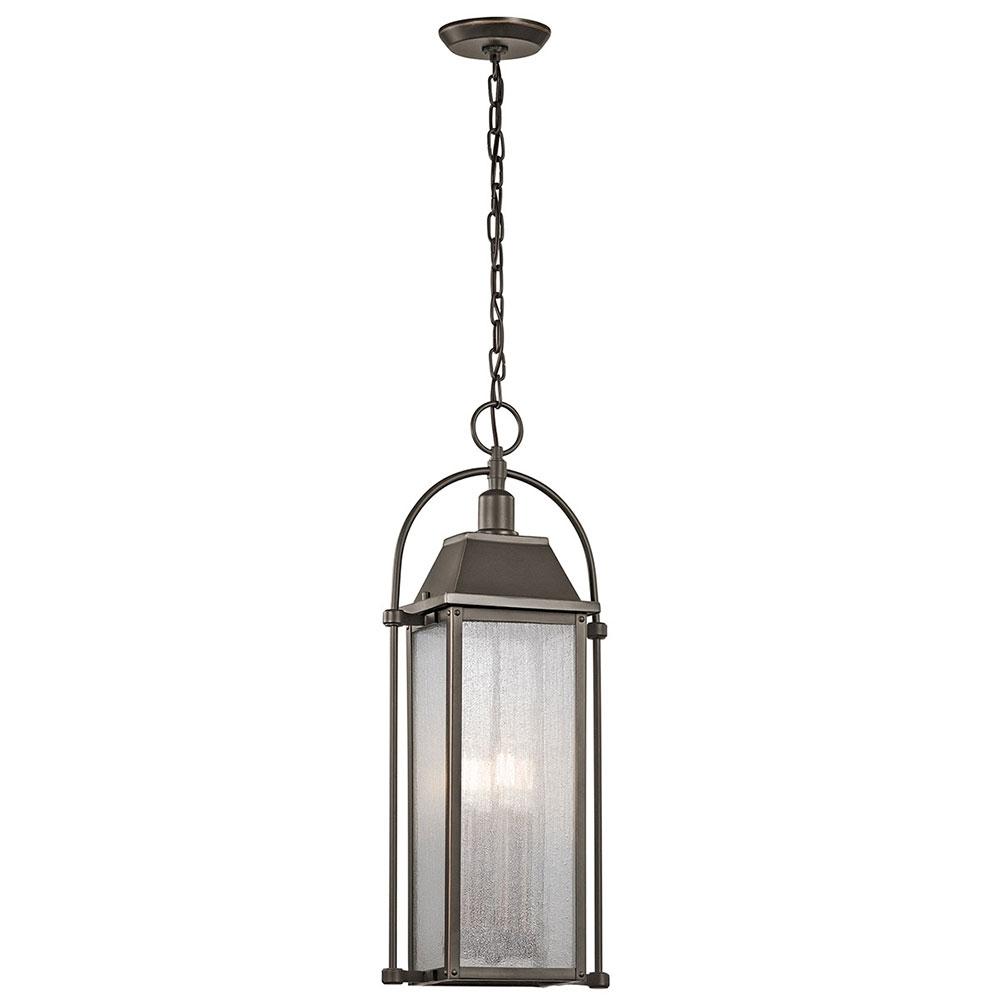Kichler 49718Oz Harbor Row Olde Bronze Outdoor Hanging Light Fixture Intended For Bronze Outdoor Hanging Lights (#6 of 15)