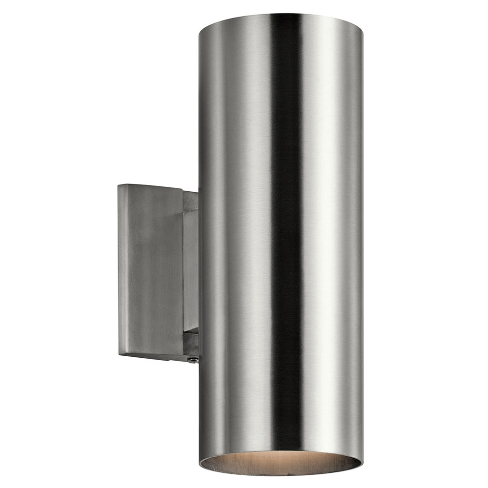 Kichler 9244Ba Modern Brushed Aluminum Exterior Light Sconce – Kic Intended For Aluminum Outdoor Wall Lighting (#8 of 15)