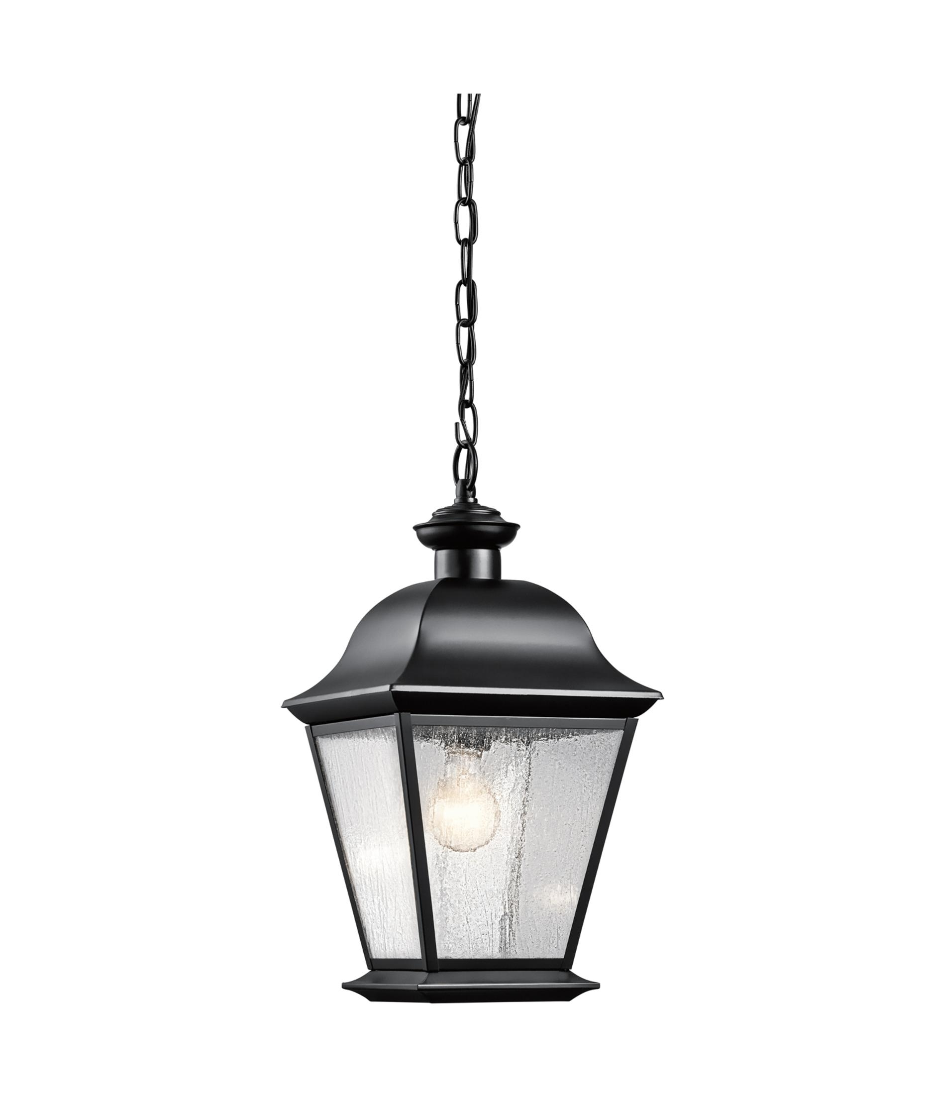 Kichler 9809 Mount Vernon 10 Inch Wide 1 Light Outdoor Hanging With Outdoor Hanging Light In Black (#6 of 15)