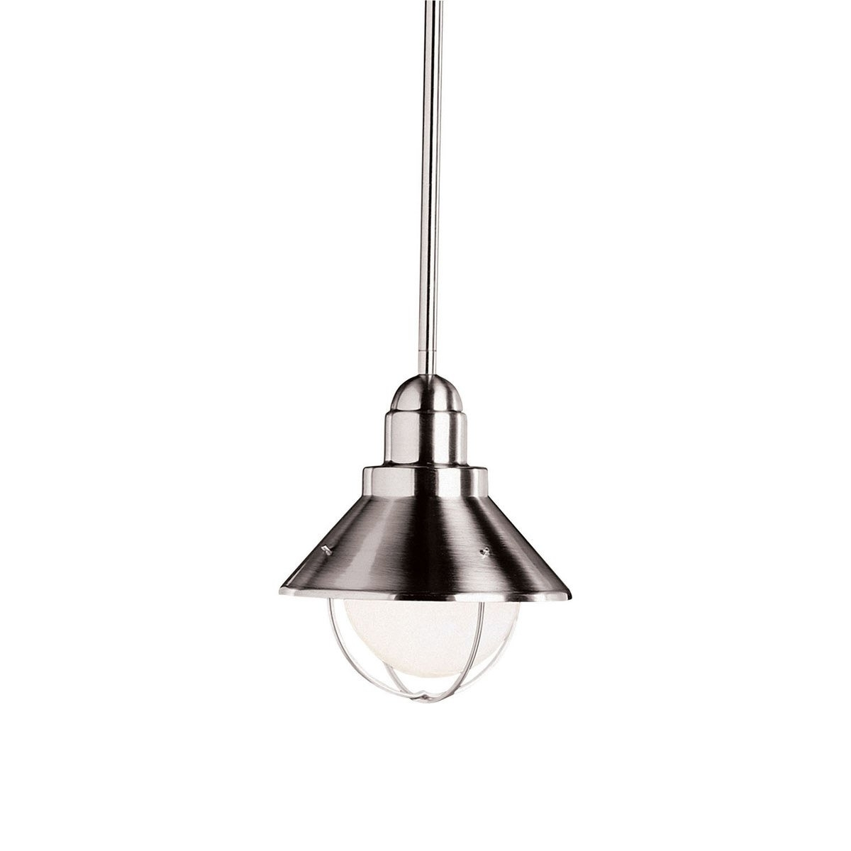 Kichler Lighting 2621Ni Seaside 1 Light 8 Inch Brushed Nickel Regarding Outdoor Pendant Kichler Lighting (View 15 of 15)