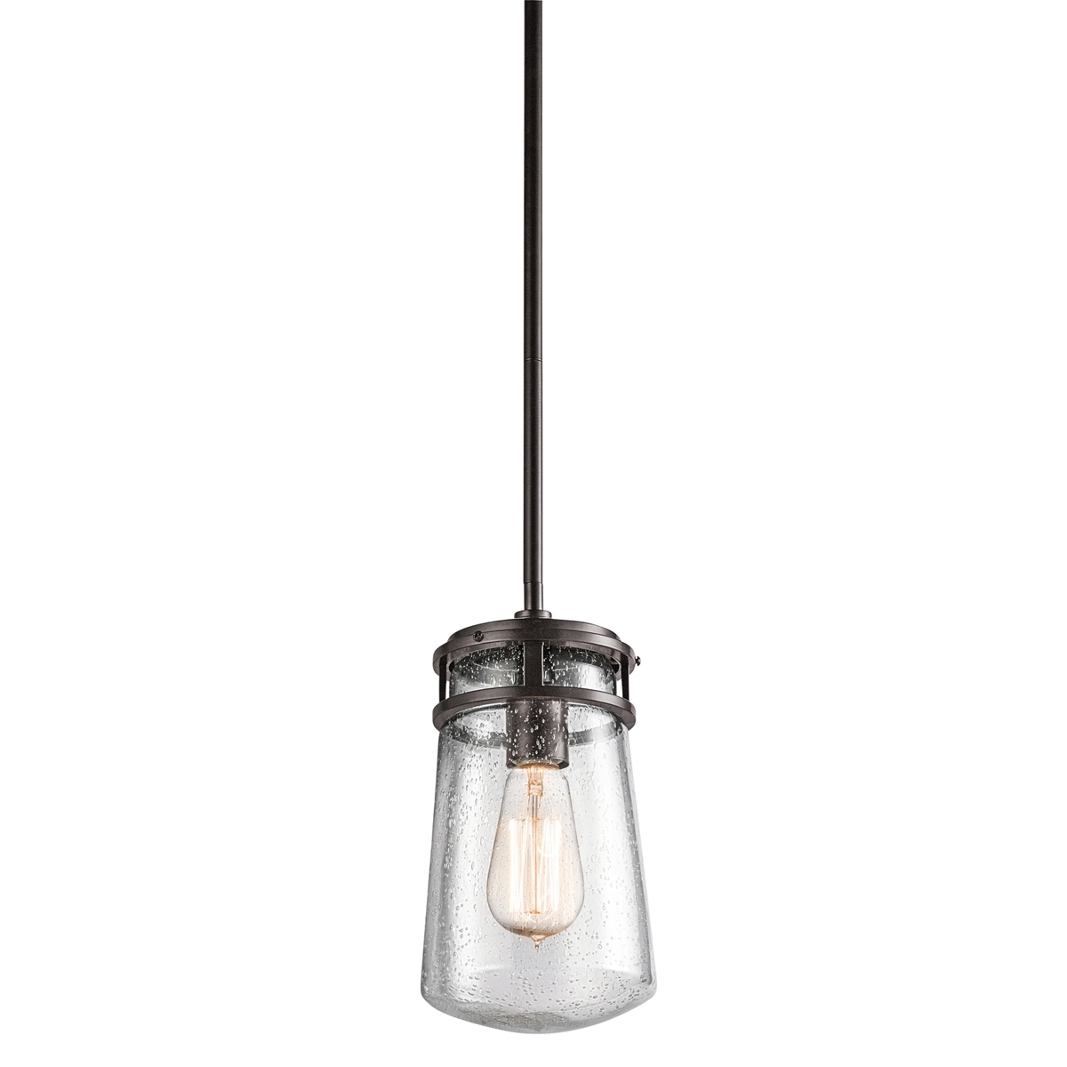 Kichler Lighting (49447Az) Lyndon 1 Light Outdoor Hanging Pendant In Intended For Let Outdoor Kichler Lighting (#4 of 15)