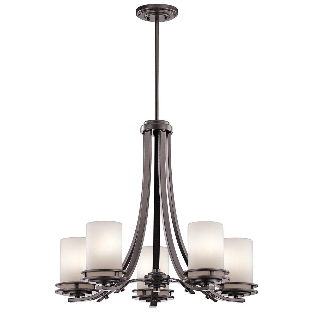 Kichler Lighting 49671Az Hendrik 5 Light 25 Inch Architectural Regarding Outdoor Chandelier Kichler Lighting (#6 of 15)