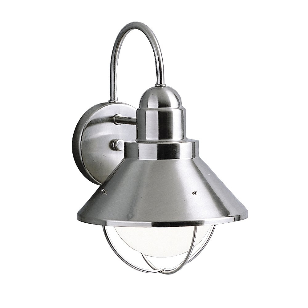 Kichler Lighting 9023 Seaside Outdoor Sconce | Lowe's Canada Throughout Kichler Outdoor Lighting Wall Sconces (View 15 of 15)
