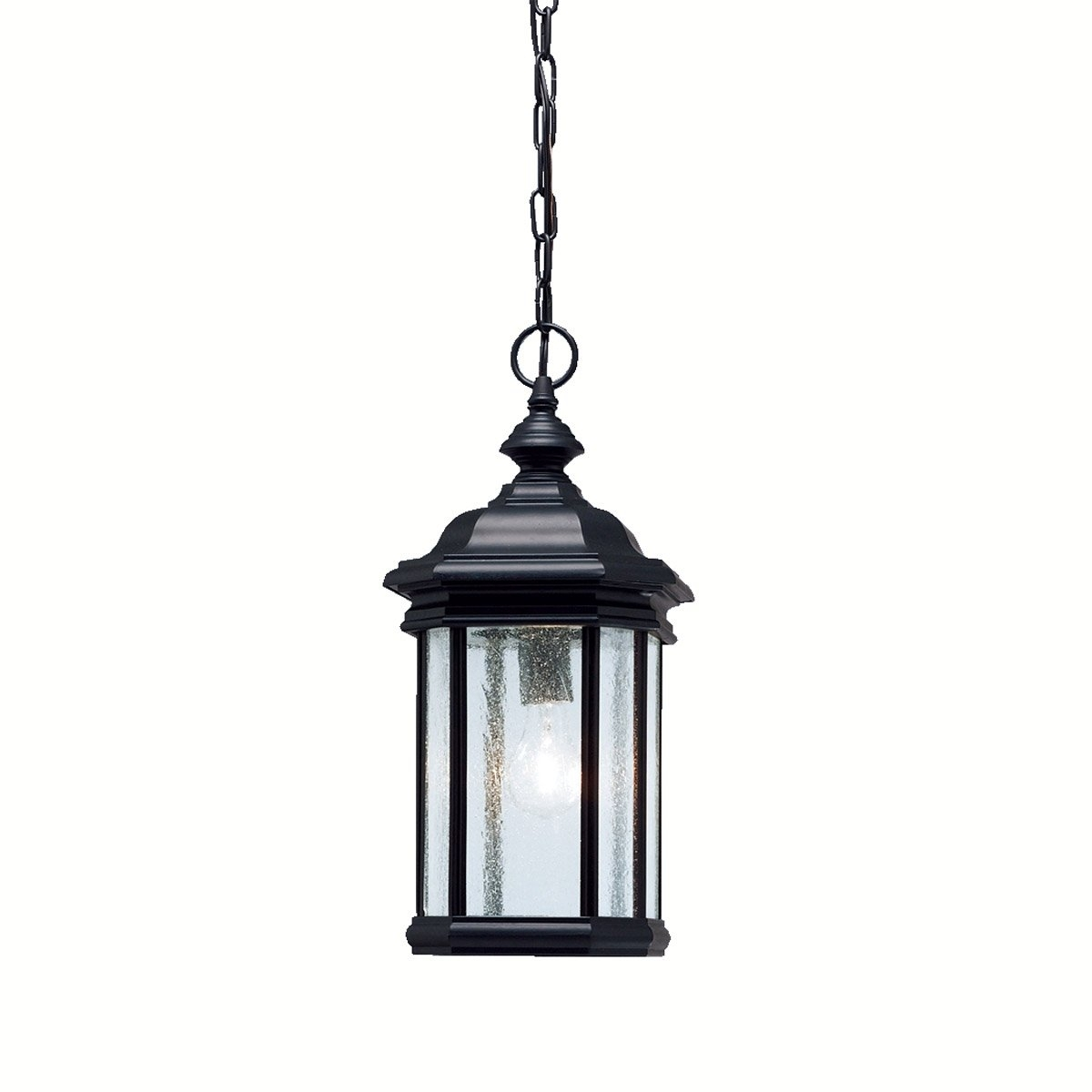 Kichler Lighting 9810Bk Kirkwood 1 Light 9 Inch Black Outdoor Inside Outdoor Pendant Kichler Lighting (View 8 of 15)