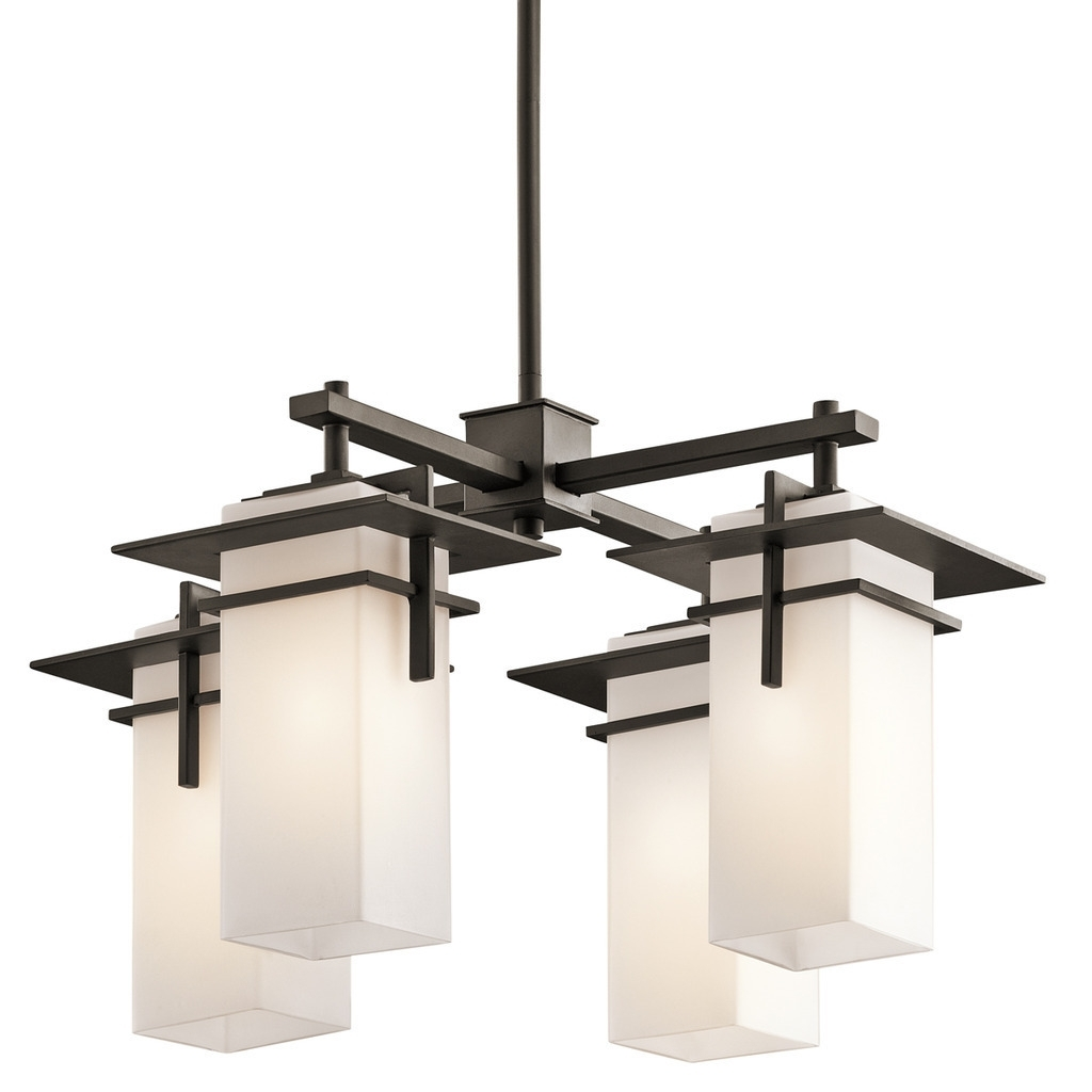 Kichler Lighting Caterham Collection 4 Light Olde Bronze Indoor Throughout Let Outdoor Kichler Lighting (#5 of 15)