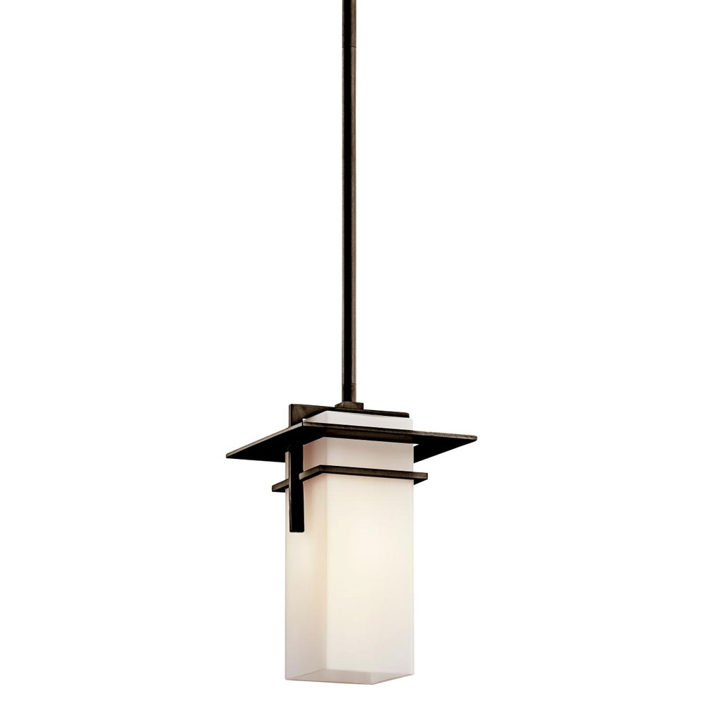 Kichler Lighting Caterham Outdoor 1 Light Hanging Pendant | Lighting In Let Outdoor Kichler Lighting (#6 of 15)