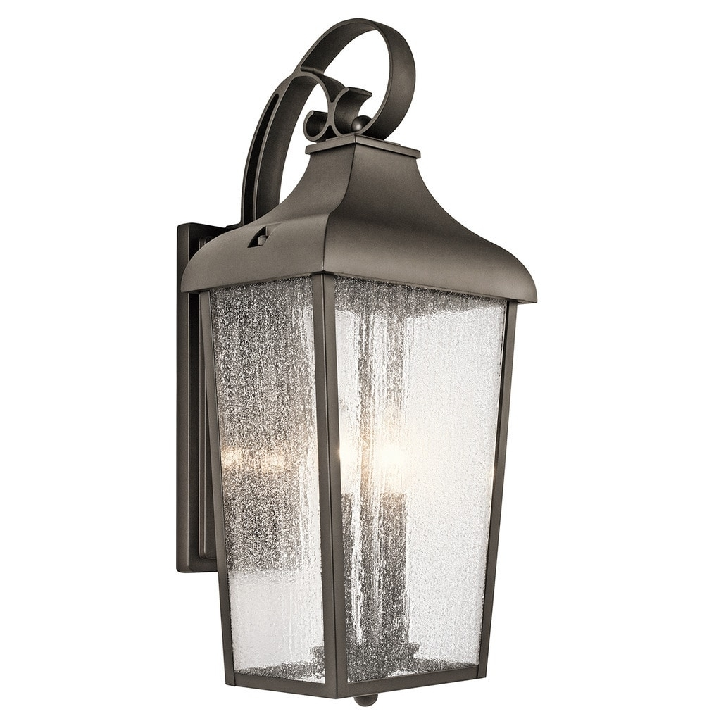Kichler Lighting Forestdale Collection 2 Light Olde Bronze Outdoor In Let Outdoor Kichler Lighting (#7 of 15)