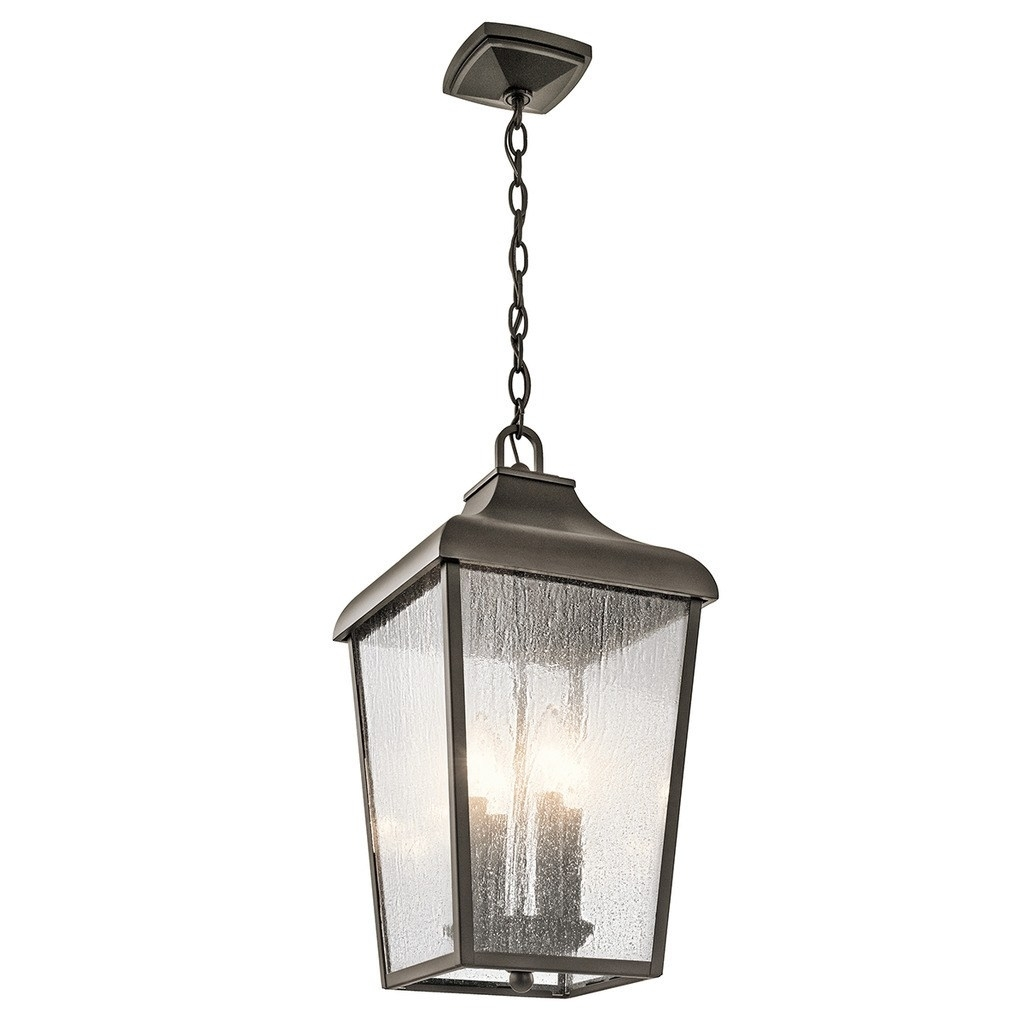 Kichler Lighting Forestdale Collection 4 Light Olde Bronze Outdoor With Regard To Let Outdoor Kichler Lighting (#8 of 15)