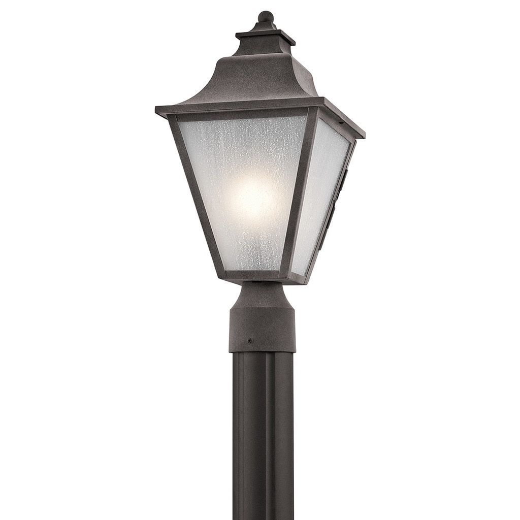 Kichler Lighting Northview Collection 1 Light Weathered Zinc Outdoor With Outdoor Post Lights Kichler Lighting (View 10 of 15)