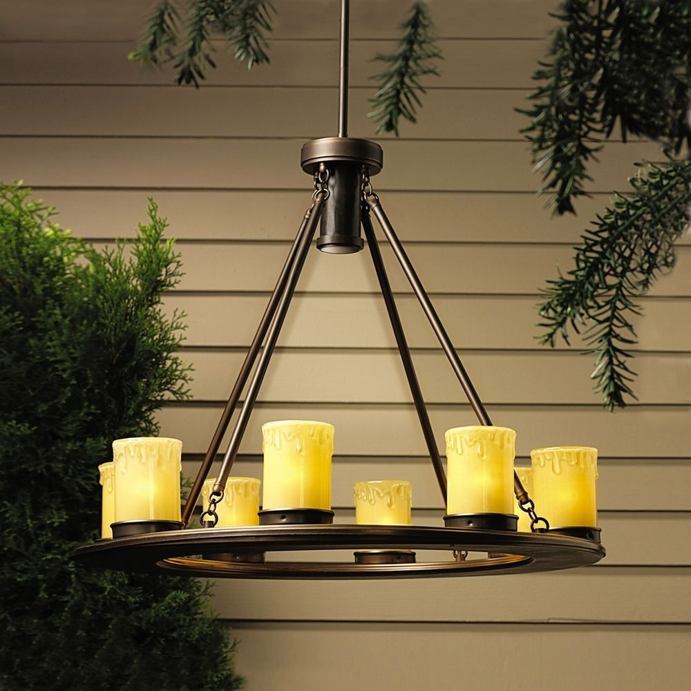 Kichler Low Voltage Outdoor Chandelier | 15402Oz | Destination Lighting Inside Low Voltage Outdoor Ceiling Lights (#6 of 15)
