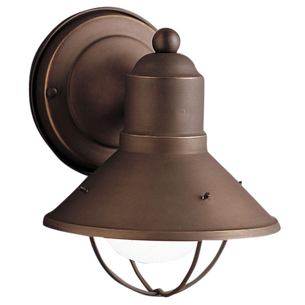 Kichler Nautical Outdoor Wall Light In Bronze Finish | 9021Oz For Outdoor Ceiling Nautical Lights (#9 of 15)