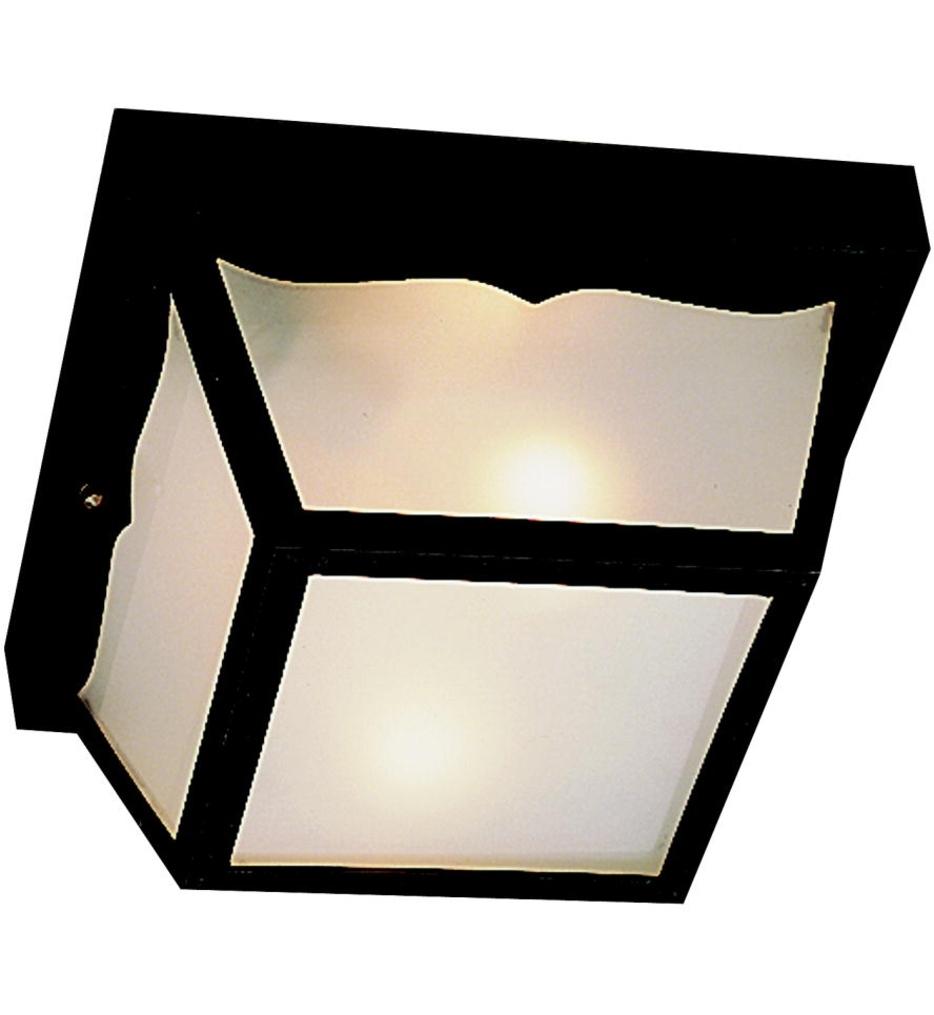 Kichler – Outdoor Plastic Fixtures 1 Light Outdoor Flush Mount With Plastic Outdoor Ceiling Lights (#6 of 15)