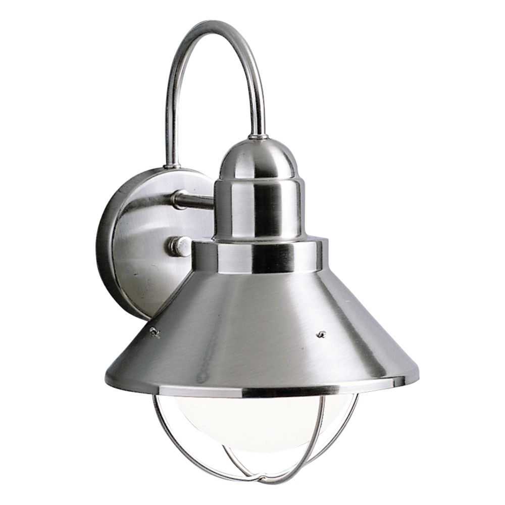 Kichler Outdoor Wall Light In Brushed Nickel Finish   9023Ni Within Nickel Outdoor Wall Lighting (#6 of 15)