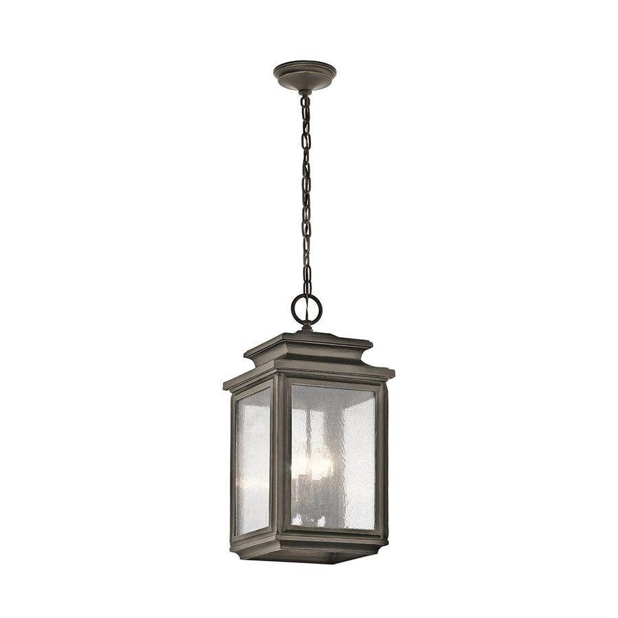 Kichler Wiscombe Park 23 In Olde Bronze Outdoor Pendant Light With Regard To Bronze Outdoor Ceiling Lights (#6 of 15)