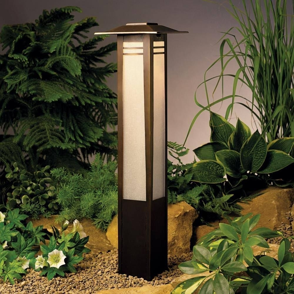 Kichler, Zen Garden Bollard Path Light | Path Lights, Paths And Gardens In Wayfair Landscape Lighting For Mini Garden (View 1 of 15)