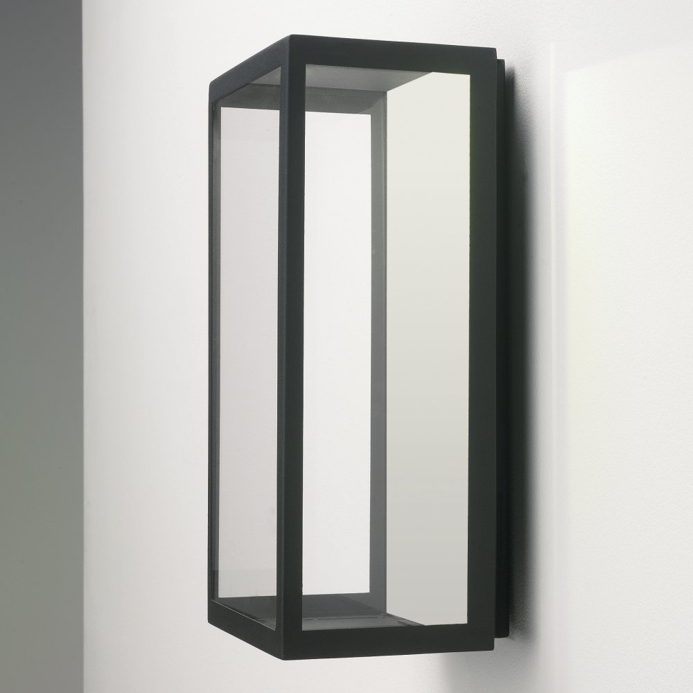 Kitchen : Astro Lighting Puzzle Black Outdoor Wall Light Fixtures Intended For Plastic Outdoor Wall Lighting (#8 of 15)