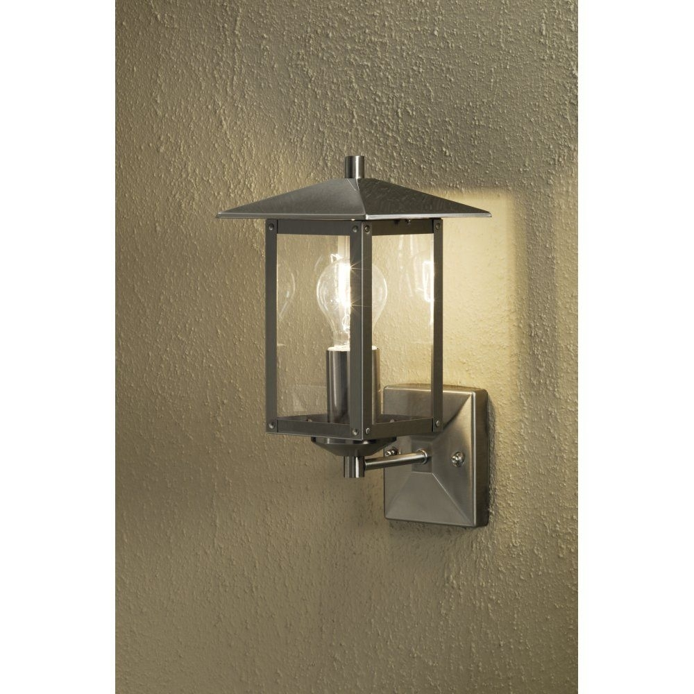 Konstsmide Sorrento Single Light Outdoor Wall Light In Stainless Throughout Green Outdoor Wall Lights (#7 of 15)