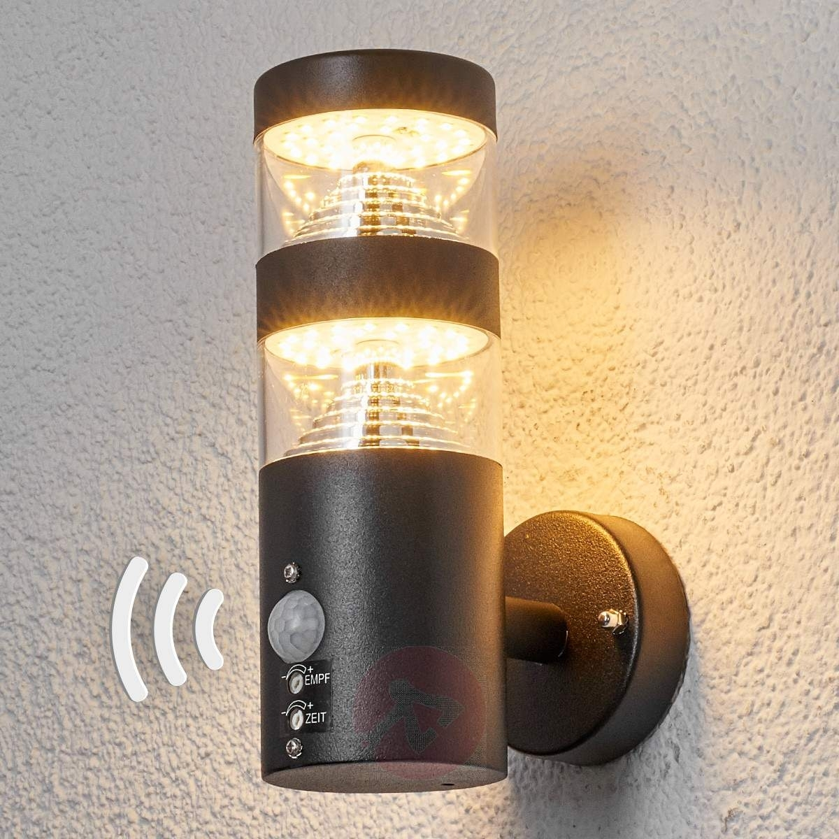 Lanea Sensor Outdoor Wall Light With Led | Lights.co (#5 of 15)