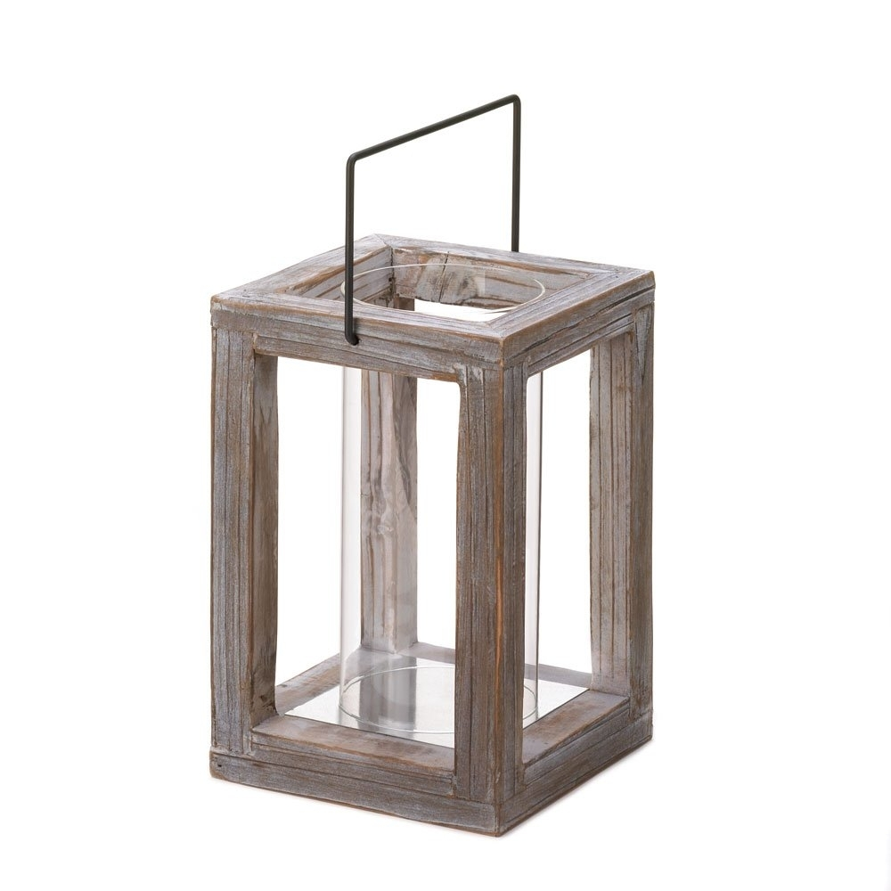 Lantern Candle Holder, Outdoor Decorative Wood Lantern Candle Holder Throughout Outdoor Hanging Lanterns For Candles (#7 of 15)