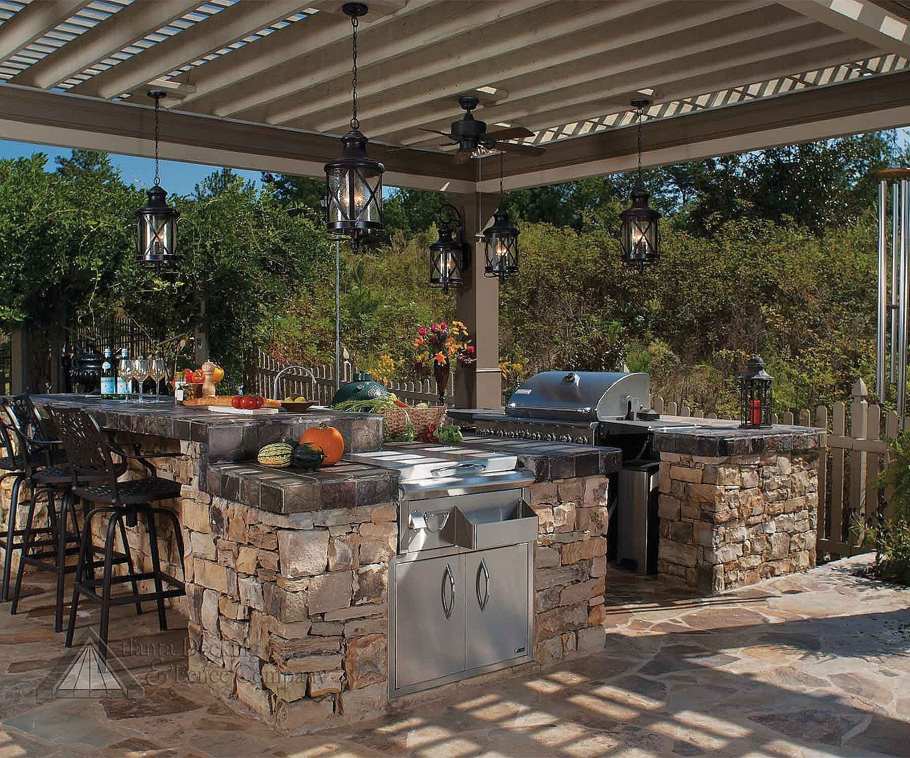 Lantern Shaped Hanging Outdoor Pendant Lights In An Outdoor Inside Outdoor Hanging Lights For Pergola (View 12 of 15)