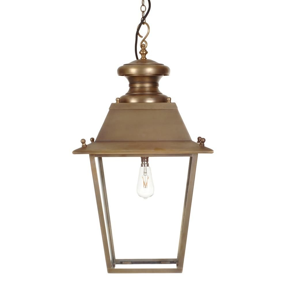 Large Canterbury Lantern In Antiqued Brass | Canterbury, Outdoor Intended For Brass Porch Hinkley Lighting (#11 of 15)