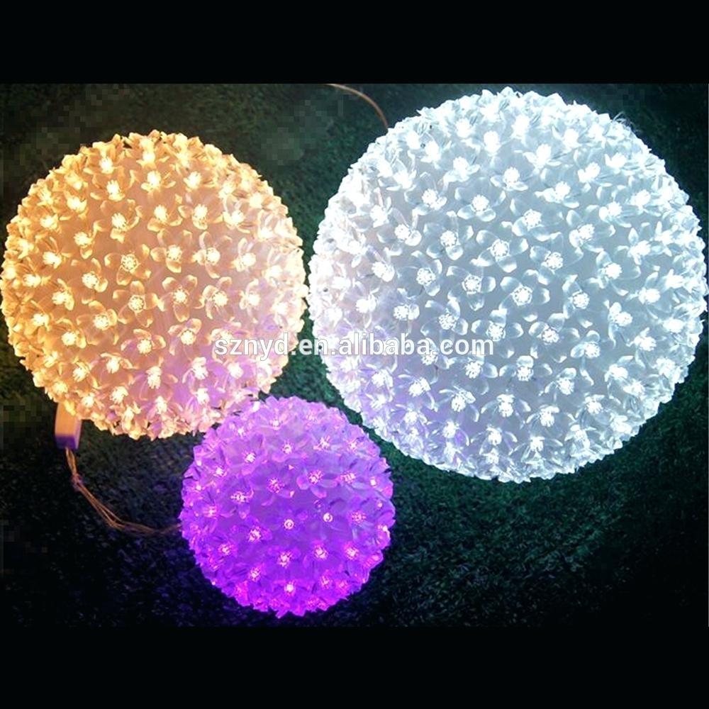 Large Christmas Balls Outdoor Diy Lighted Hanging – Erkkeri Intended For Outdoor Hanging Christmas Light Balls (#12 of 15)