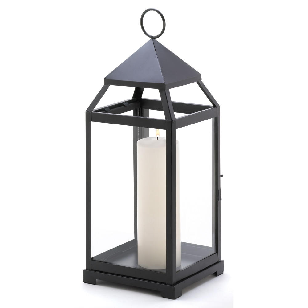 Large Contemporary Candle Lantern Wholesale At Koehler Home Decor Throughout Outdoor Hanging Metal Lanterns (View 6 of 15)