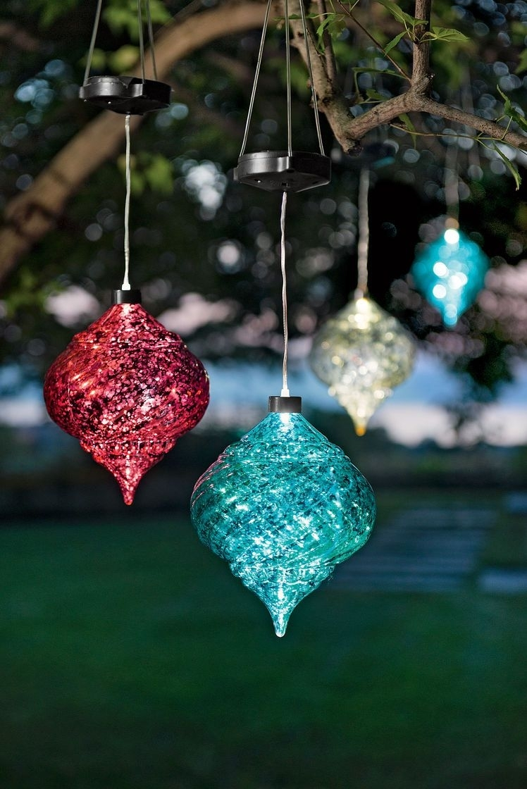 Large Outdoor Christmas Ornaments – Hanging Onion Solar Ornament Throughout Outdoor Hanging Ornament Lights (#9 of 15)