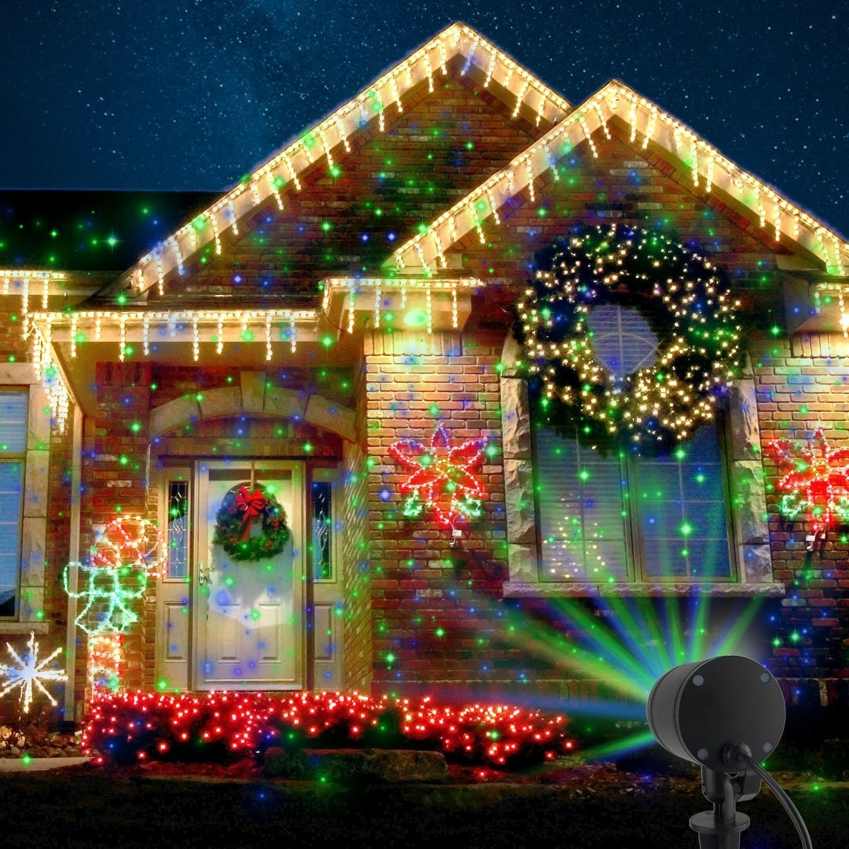Laser Christmas Lights: Decorating Made Easy | The Children's Nook Intended For Outdoor Wall Xmas Lights (#7 of 15)