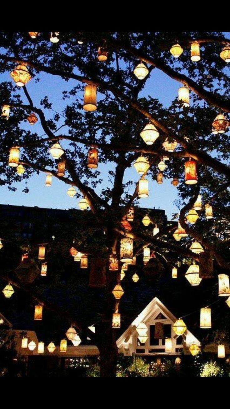 Laura Loves These Dress Lights! How Cute! Even If Your Garden Party For Outdoor Hanging Lanterns For Trees (View 5 of 15)