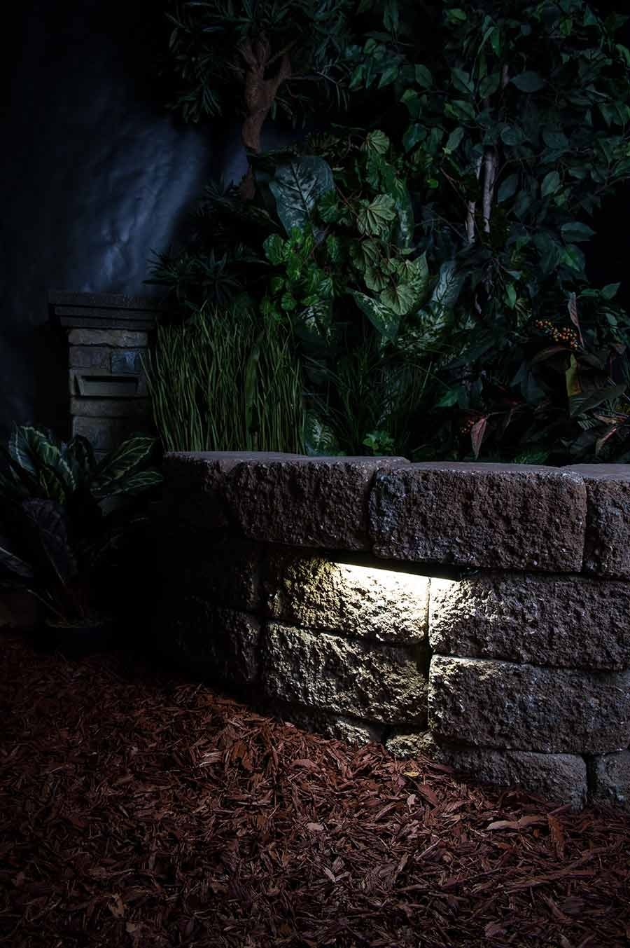 "Led Hardscape Light – 6"" Deck / Step And Landscape Retaining Wall With Regard To Outdoor Rock Wall Lighting (View 6 of 15)"