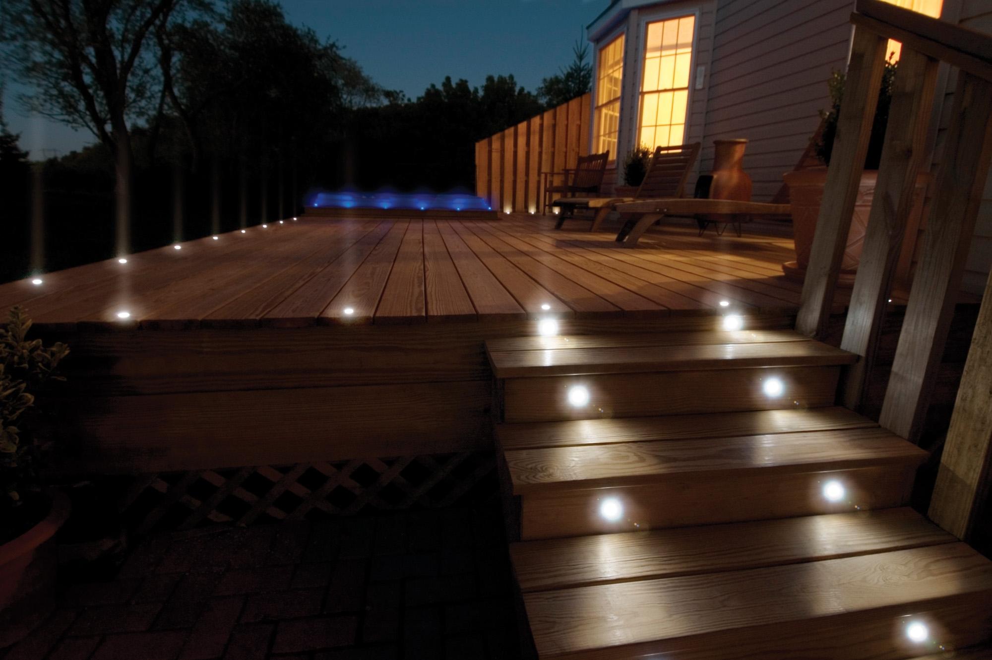 Led Light Design: Sophisticated Deck Led Lights For Outdoor Deck Inside Modern Low Voltage Deck Lighting At Home Depot (#8 of 15)