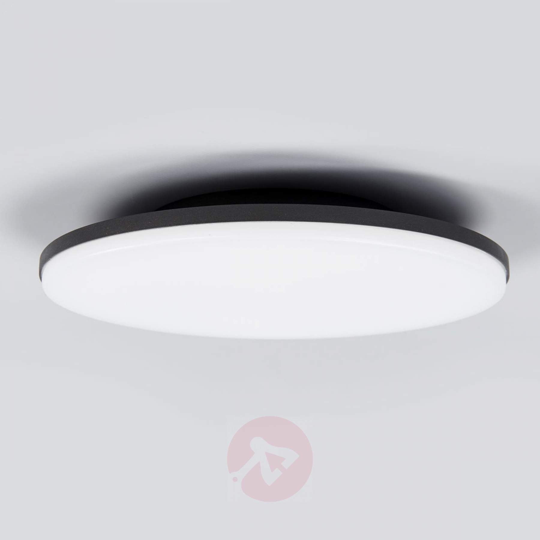 Led Outdoor Ceiling Light Benna, Motion Detector | Lights.co (View 14 of 15)