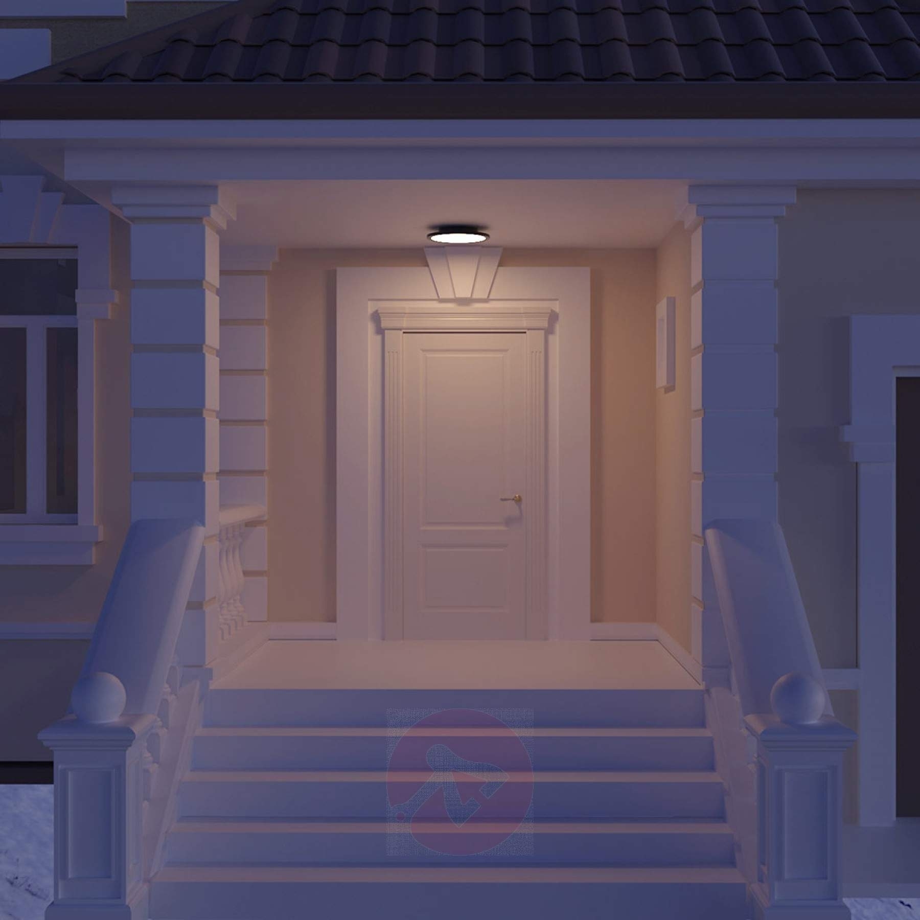 Led Outdoor Ceiling Light Malena With Sensor | Lights.co (#6 of 15)