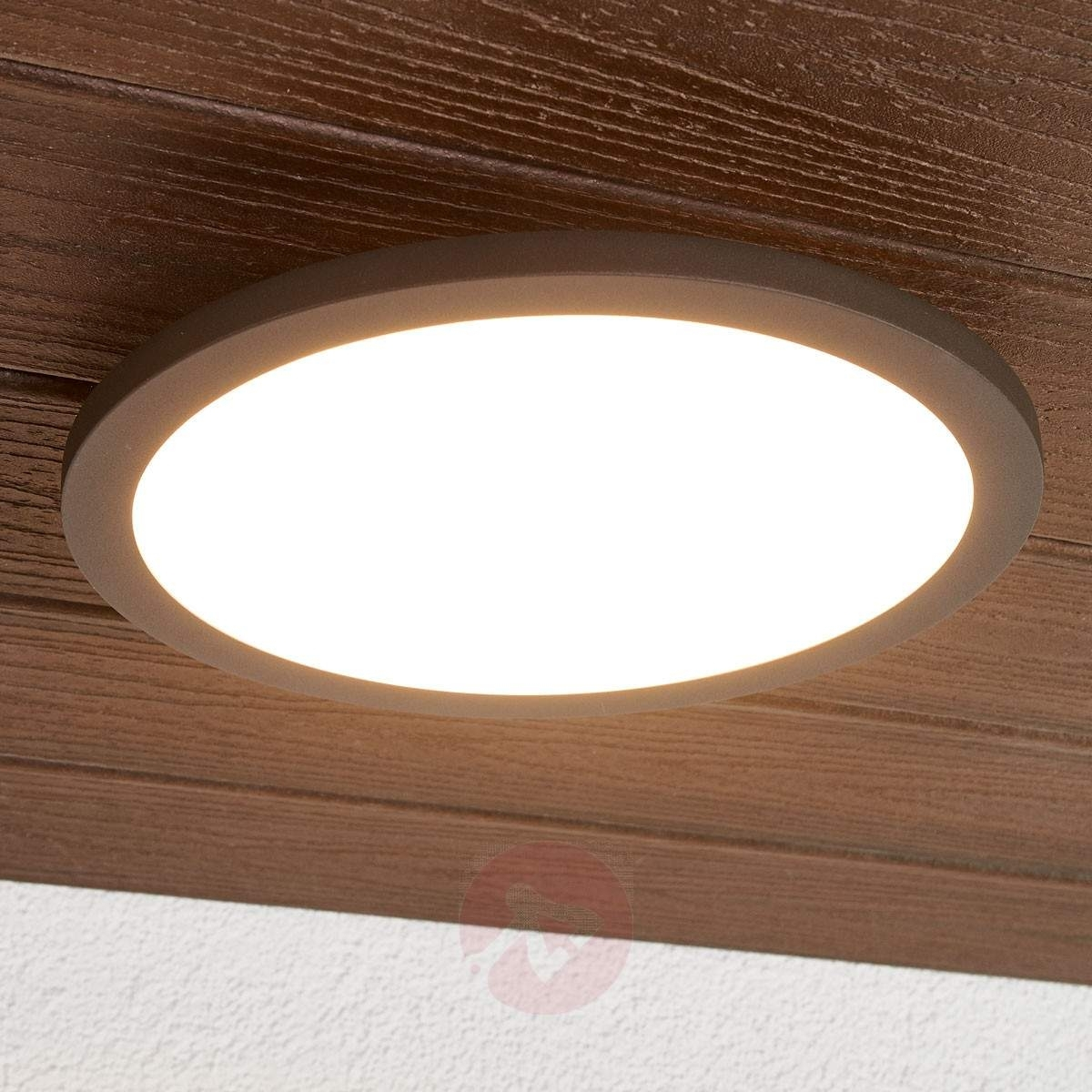 Led Outdoor Ceiling Light Malena With Sensor | Lights.co (#7 of 15)