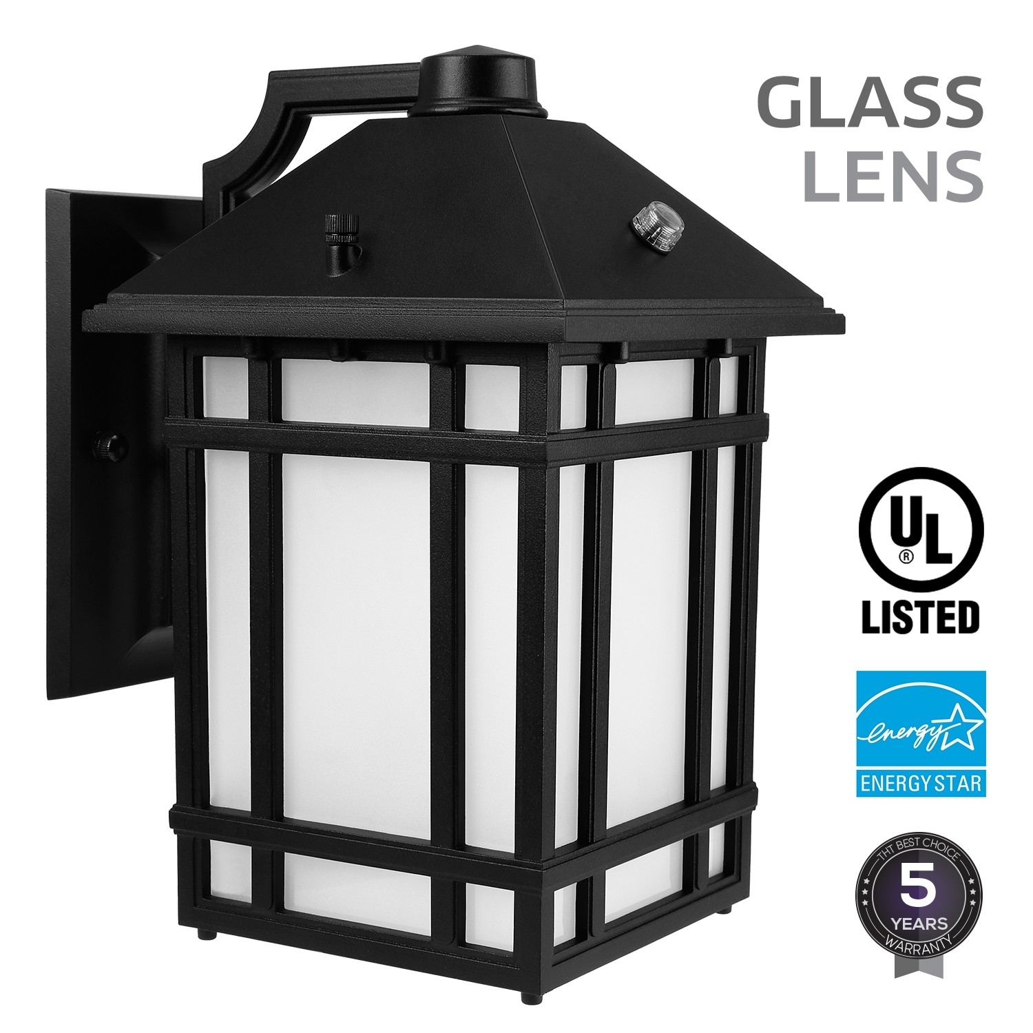 Led Outdoor Wall Lantern With Dusk To Dawn Photocell, 23W (130W Inside Dusk To Dawn Led Outdoor Wall Lights (#10 of 15)