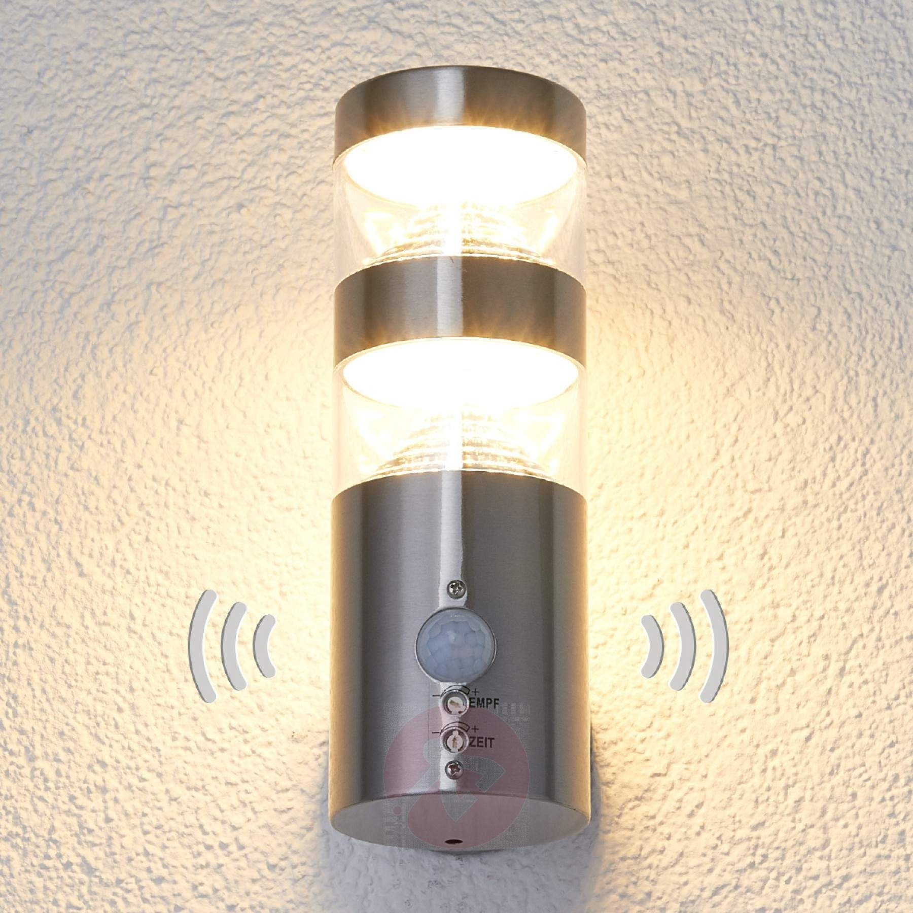 Led Outdoor Wall Light Lanea With Motion Sensor | Lights.co (View 12 of 15)