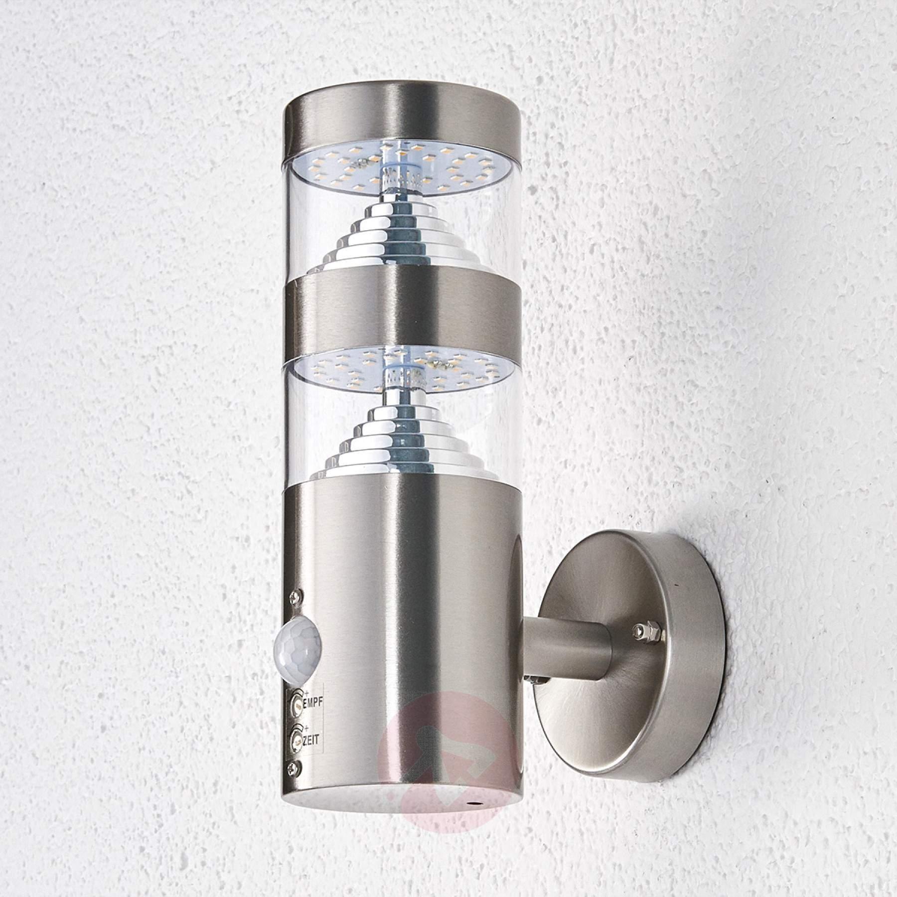 Led Outdoor Wall Light Lanea With Motion Sensor   Lights.co (#9 of 15)