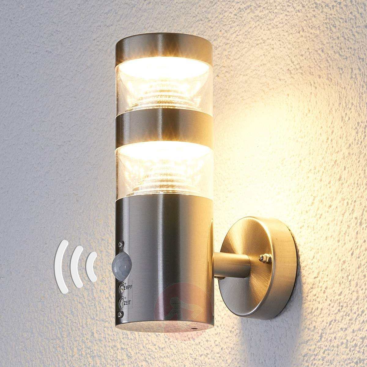 Popular Photo of Led Outdoor Wall Lights Lanea With Motion Sensor