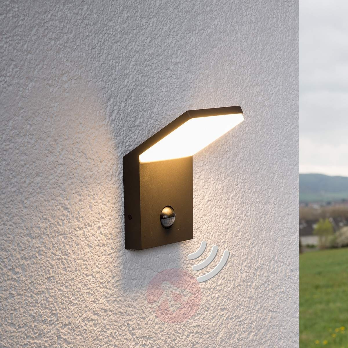 Led Outdoor Wall Light Nevio With Motion Detector | Lights (#6 of 15)
