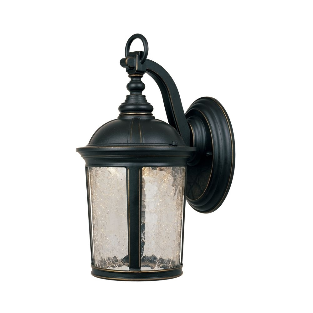 Led Outdoor Wall Light With Clear Glass In Aged Bronze Patina Finish With Regard To Led Outdoor Wall Lights With Photocell (View 8 of 15)
