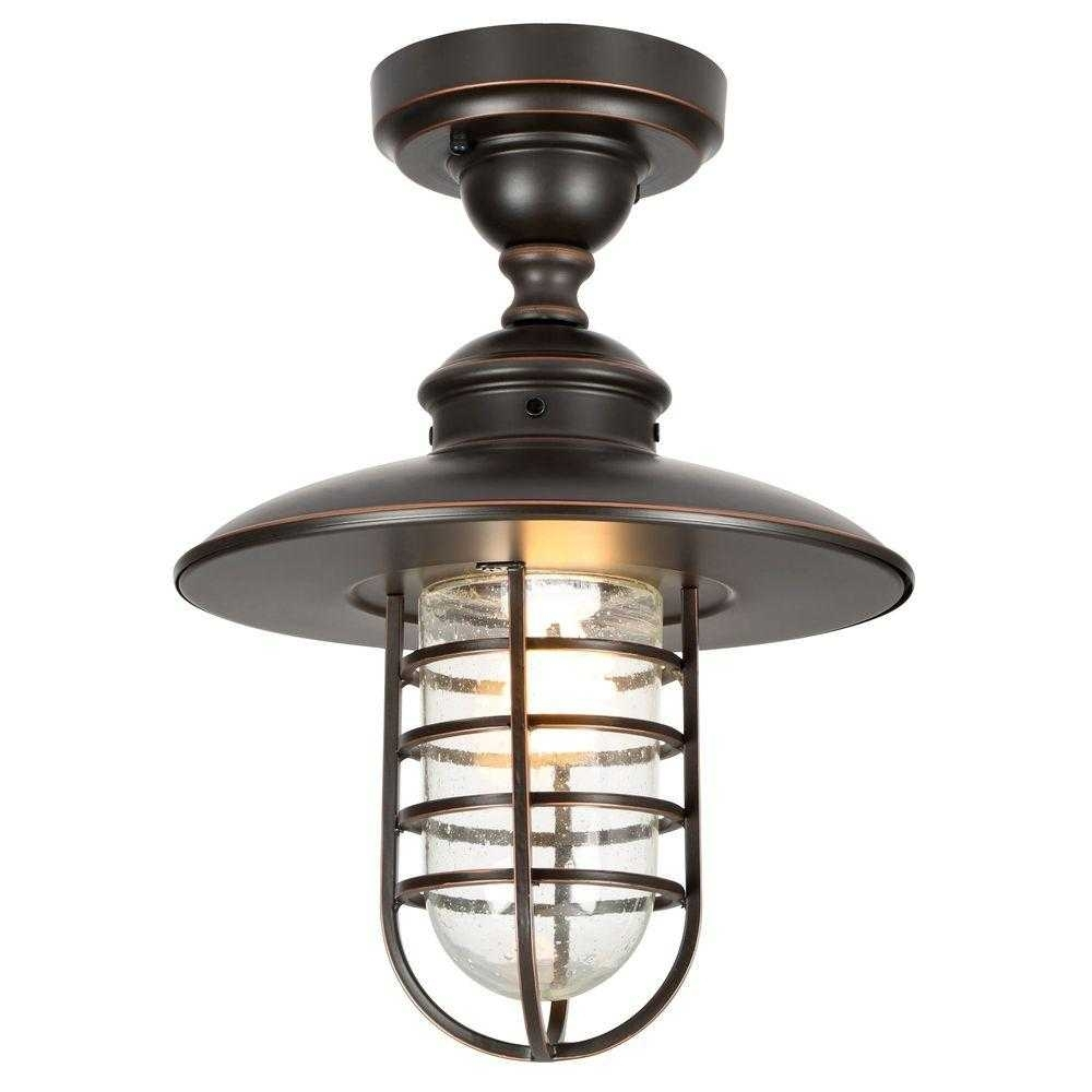 Led Outside Ceiling Lights Mount Collection With Outdoor For Porch Intended For Low Profile Outdoor Ceiling Lights (#10 of 15)