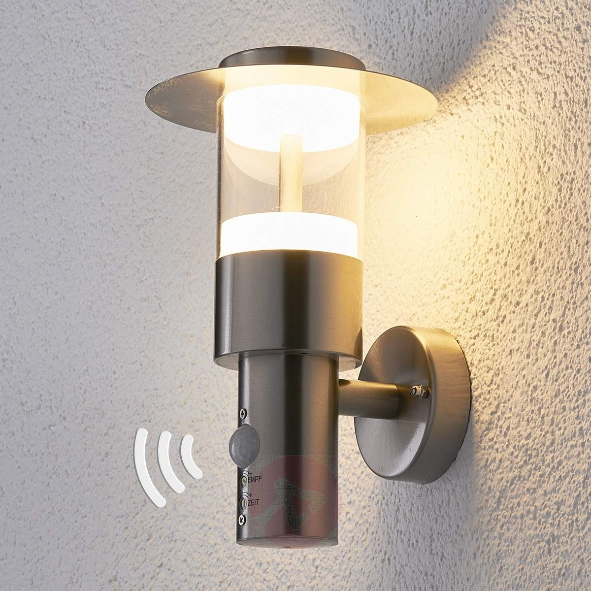 Led Presence Detector Outdoor Wall Light Anouk | Lights.co (#7 of 15)