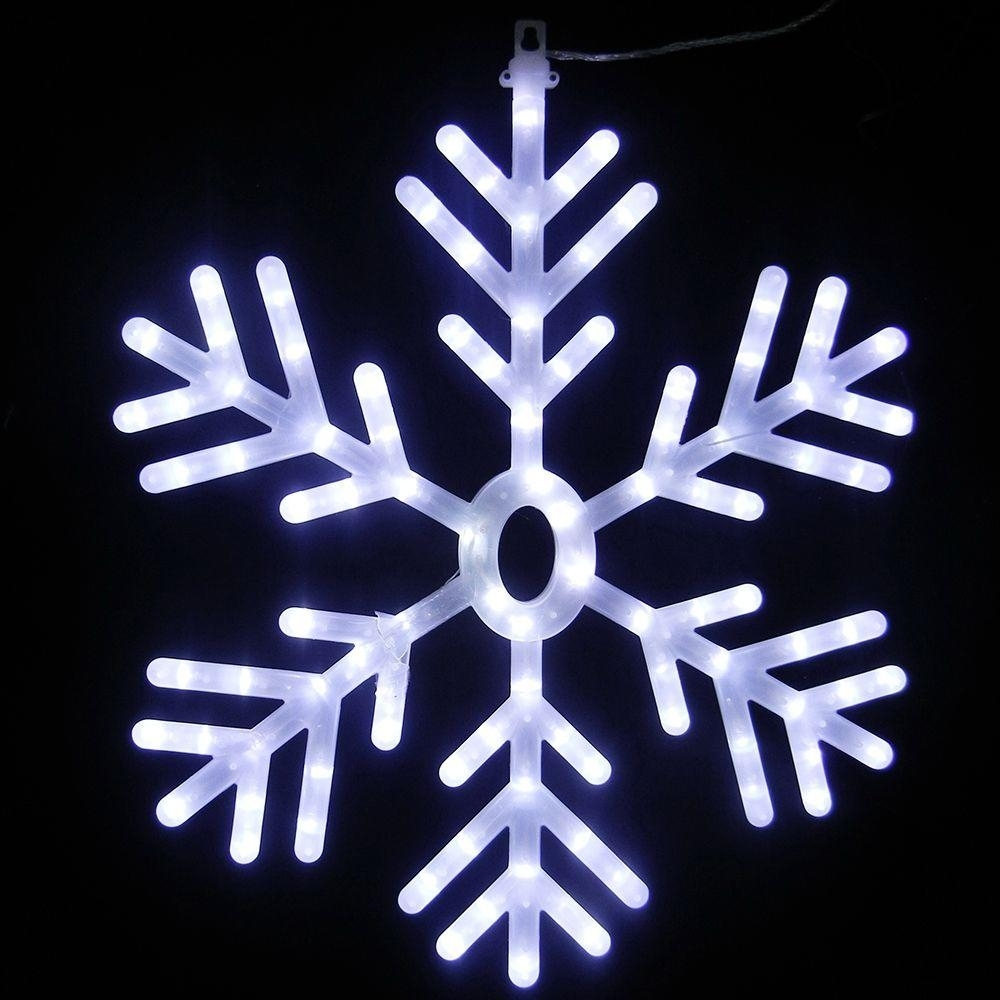 Led – Snowflake – Christmas Lights – Christmas Decorations – The Pertaining To Outdoor Hanging Snowflake Lights (View 8 of 15)