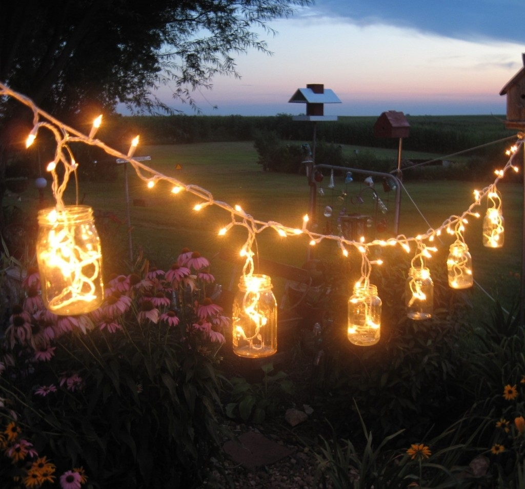 Led White Solar Fairy String Lights At Night Outdoor Lighting Plus In Garden And Outdoor String Lights (#8 of 15)