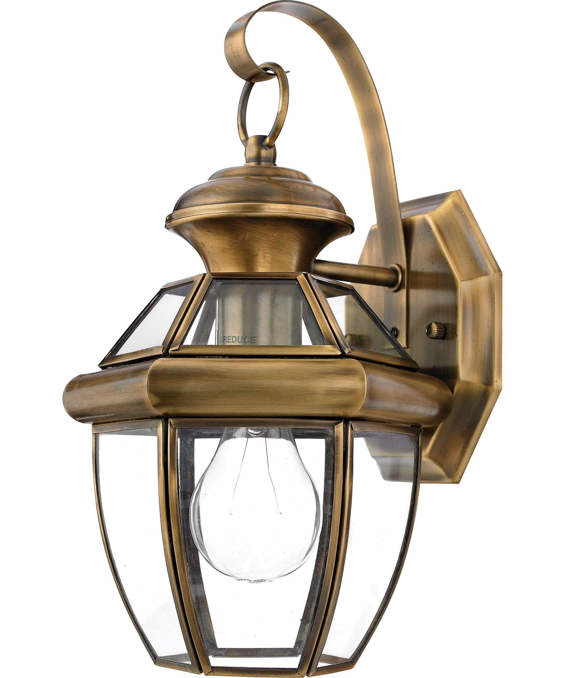 Light : Amazing Antique Brass Outdoor Wall Lights For Recessed With Brass Outdoor Ceiling Lights (#10 of 15)