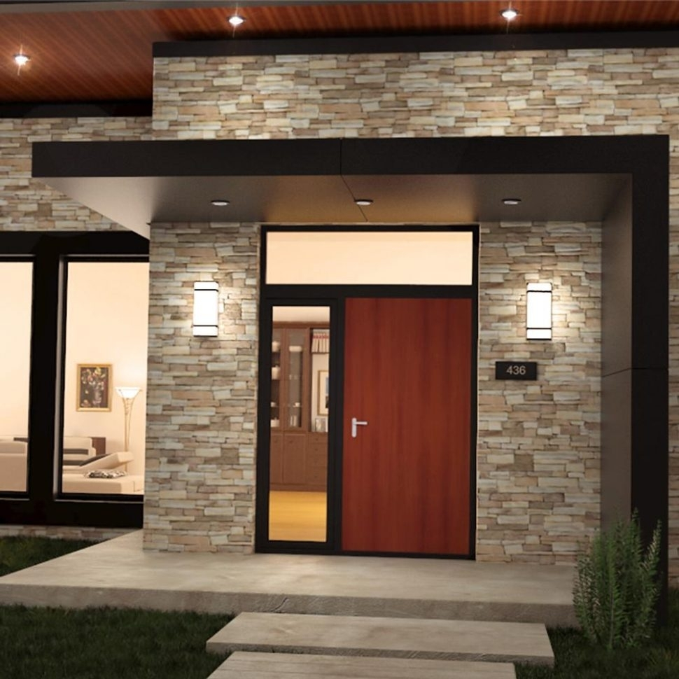 Light : Exciting Outdoor Lighting Wall Mount Led Light Fixture Within Outdoor Ceiling Lights With Photocell (View 9 of 15)