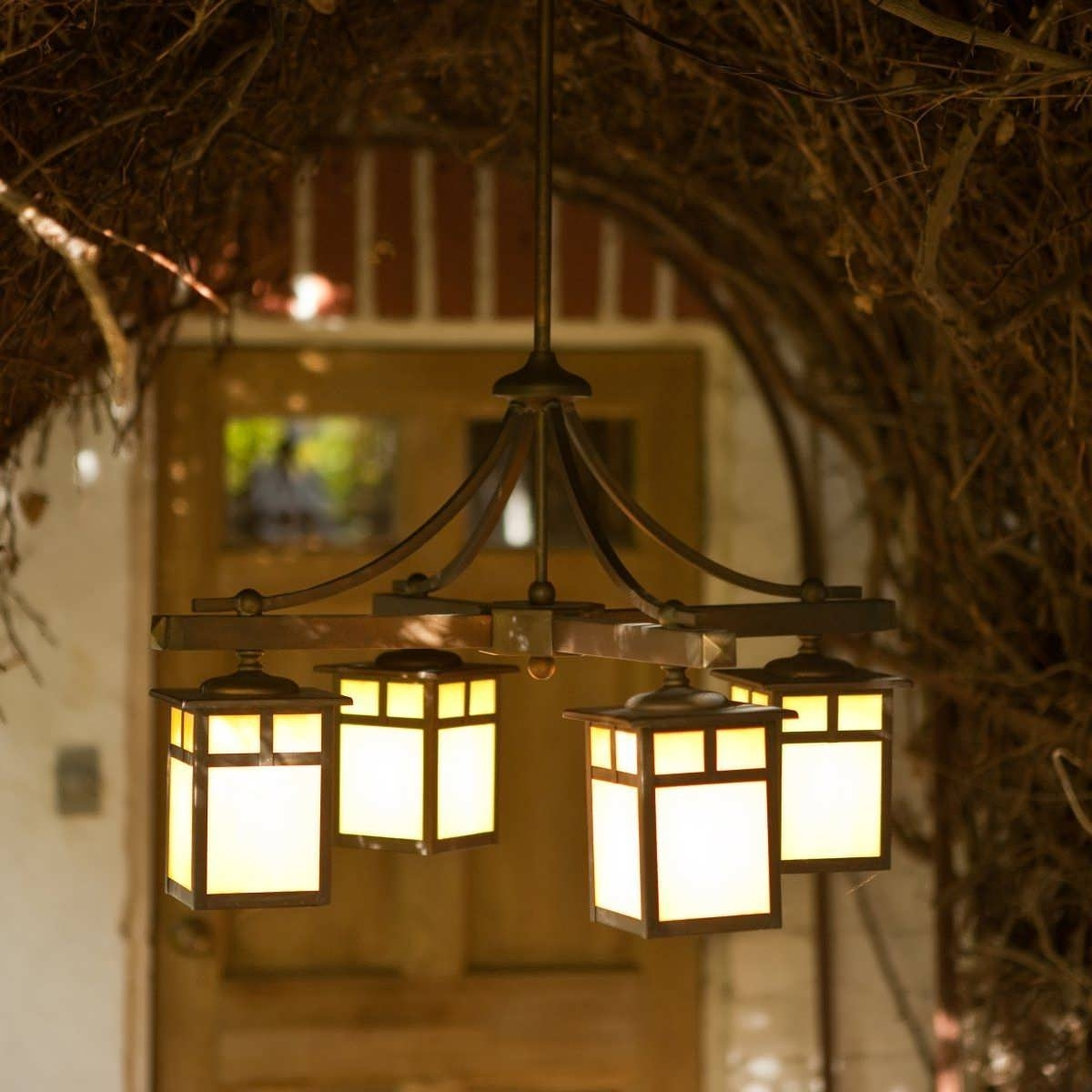 Light : Gazebo Lighting Ideas Chandelier Patio Lights Outside Garage Pertaining To Outdoor Hanging Lights For Porch (#6 of 15)