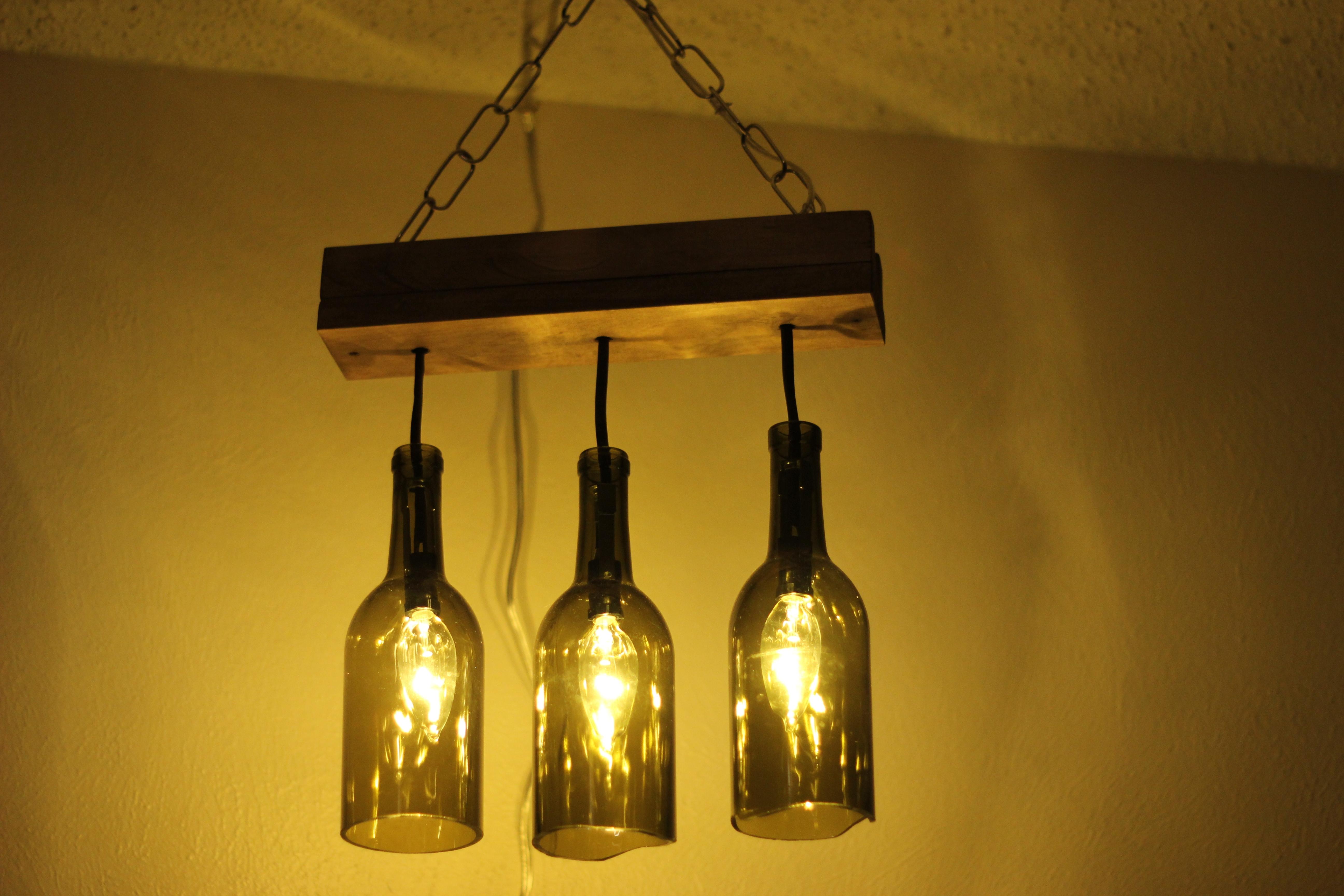 Light: Hanging Wine Bottle Lights Inside Outdoor Hanging Bottle Lights (#13 of 15)