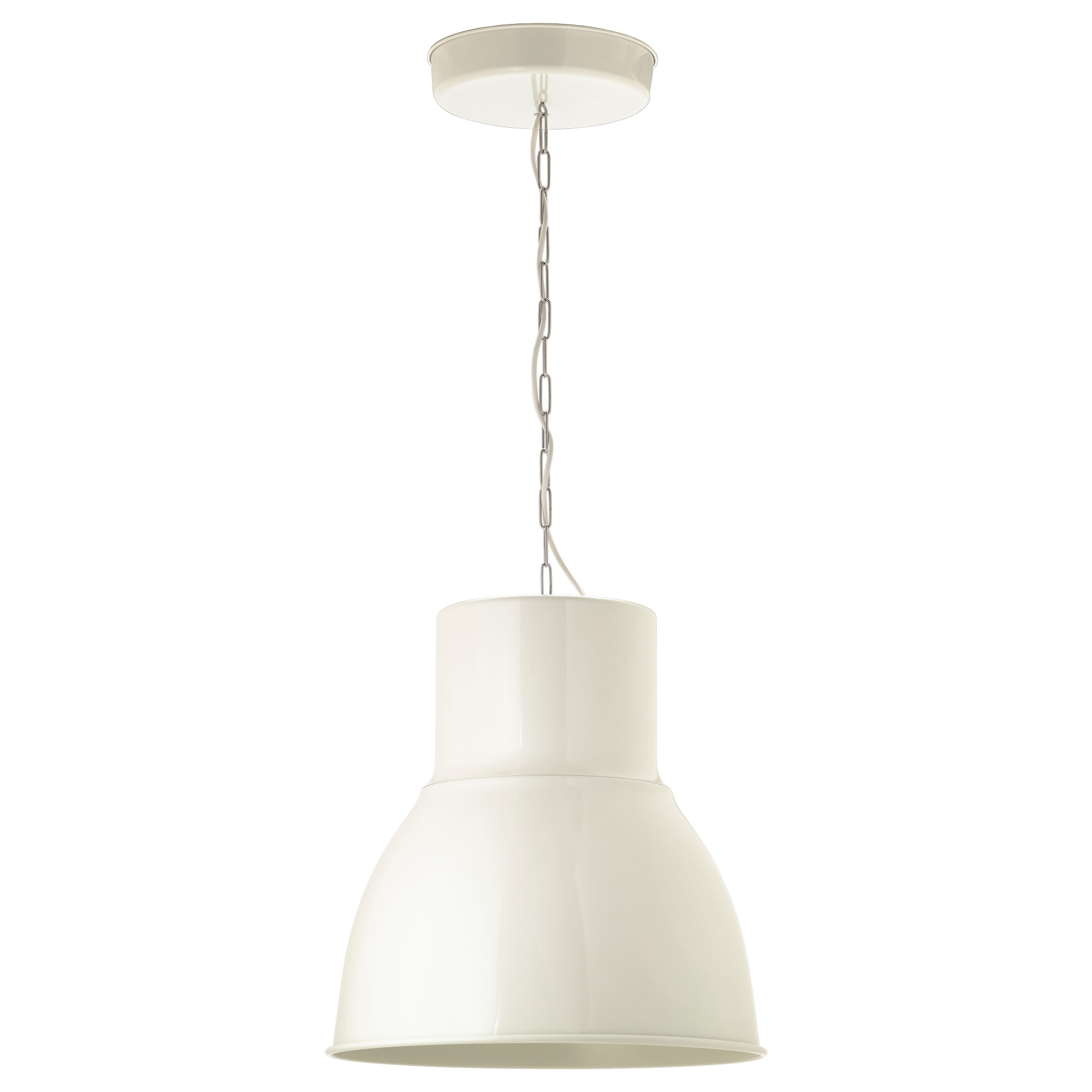 Light : Hektar Pendant Lamp White Ceiling Light Cm Ikea Art String Intended For Ikea Outdoor Hanging Lights (#12 of 15)